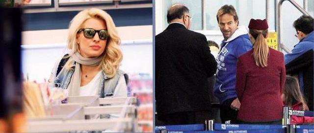 Η Ελένη στο αεροδρόμιο για Μαλδίβες