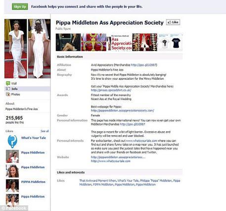 Η αδελφή της νύφης έκανε μεγάλη αίσθηση στον πρόσφατο πριγκιπικό γάμο. Ιδιαίτερα τα οπίσθιά της! Μέχρι και σελίδα δημιουργήθηκε στο facebook για όσους τα  εκτιμούν  δεόντως, ως  The Pippa Middleton As