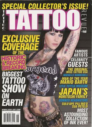 Η Μισέλ έχει εμφανιστεί πολλές φορέ στο εξώφυλλο του περιοδικού  Tattoo .