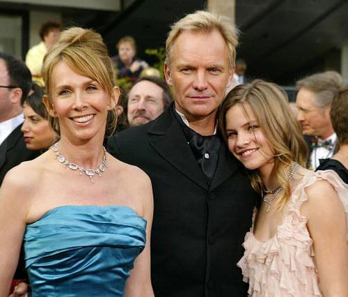 Η Τρούντι Στάιλερ, ο Στινγκ και η κόρη τους, Κόκο, το 2005.  Έχουν ακόμη έναν γιο, τον  Τζο.