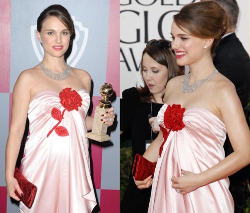 Η Νάταλι προσπάθησε να κρύψει την κοιλίτσα της φορώντας μακρύ ριχτό  Viktor & Rolf  φόρεμα!