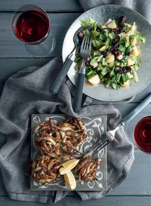 Σαλάτα με χταπόδι, πατάτες, ελιές και αντίδι