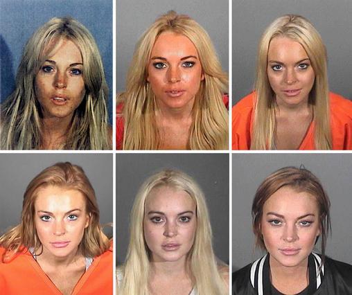 Αυτές είναι μερικές μόνο από τις φορές που η Λίντσεϊ  πόζαρε  για τους αστυνόμους που τη συνέλαβαν...