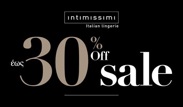 INTIMISSIMI: It's sale time