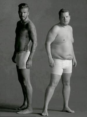 "<p>Ο Ντέιβιντ Μπέκαμ και ο Τζέιμς Κόρντεν ""παίζουν"" στο φακό διαφημίζοντας εσώρουχα μάρκας <strong>""'D+J"" </strong>(τα αρχικά των ονομάτων τους) ενώ το τέλος του κλιπ που μόλις"