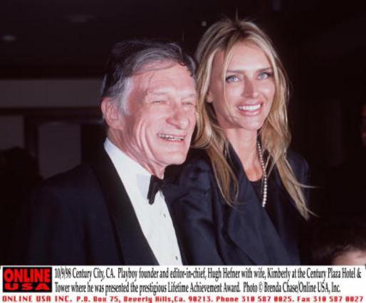 Ο Χέφνερ με την πρώην γυναίκα του, Κόνραντ λίγο πριν τον χωρισμό τους.