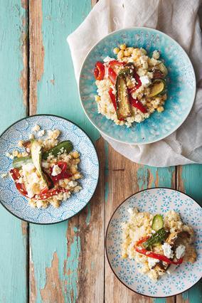 Σαλάτα με κουσκούς και ψητά λαχανικά