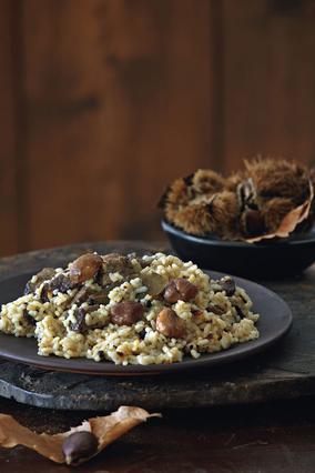 Μοσχαράκι με ρύζι και κάστανα