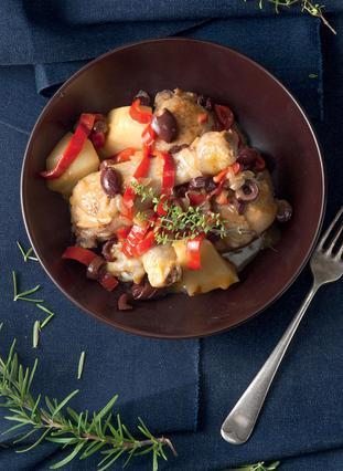 Κοτόπουλο με πιπεριές και πατάτες
