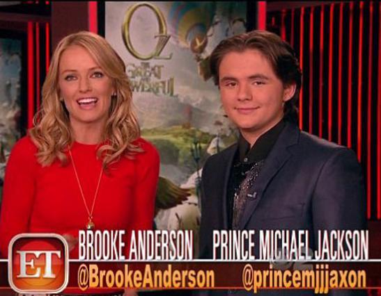 Ο Πρινς Μάικλ Τζάκσον με την συμπαρουσιάστριά του, Μπρουκ Άντερσον