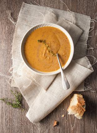 Σούπα με καρότα, πράσα και απάκι
