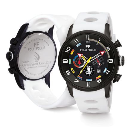 Η Folli Follie, Επίσημος Χρονομέτρης του Spetses Classic Yacht Race 2013, εντυπωσιάζει τους λάτρεις της ιστιοπλοΐας παρουσιάζοντας ένα ειδικά σχεδιασμένο συλλεκτικό ρολόι της συλλογής Regatta.
