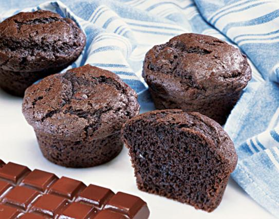 Μάφινς σοκολάτας με άρωμα μέντας