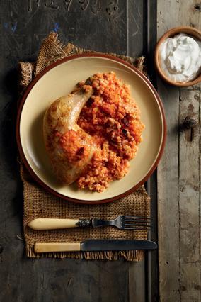 Κοτόπουλο με τραχανά
