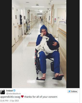 Στο νοσοκομείο επειγόντως η Άιρλαντ Μπόλντουιν