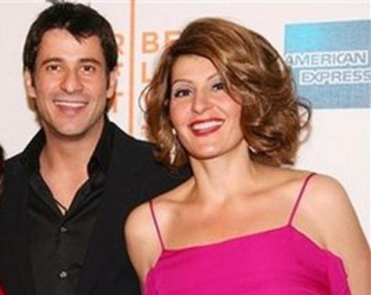 Η Νία Βαρντάλος με τον συμπρωταγωνιστή της, Αλέξη Γεωργούλη στο φεστιβάλ κινηματογράφου της Τραϊμπέκα.