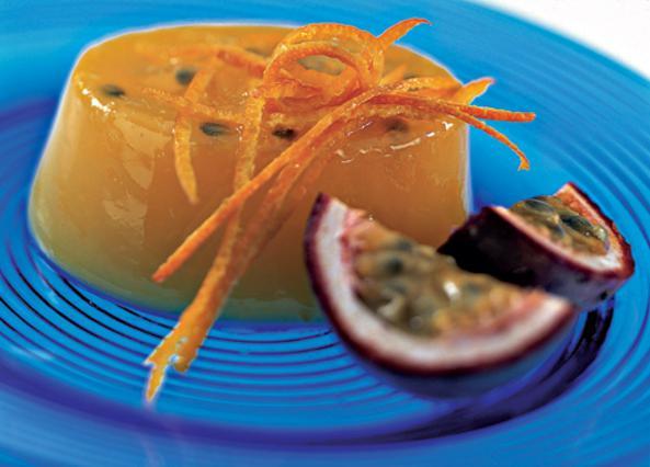 Ζελέ με πορτοκάλι και φρούτα του πάθους