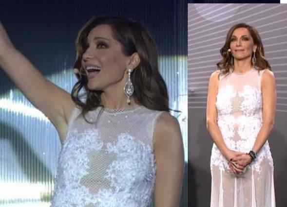 Η Δέσποινα με το λευκό φόρεμα με διαφάνεια