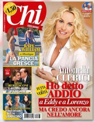 Το περιοδικό  Chi  δημοσιεύει στο εξώφυλλό του φωτογραφία του Γουίλιαμ και της Κέιτ με την κοιλίτσα της  φόρα παρτίδα