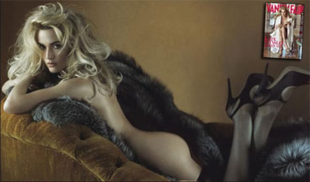 Η Κέιτ Γούινσλετ στις εσωτερικές σελίδες του Vanity Fair Δεκεμβρίου.