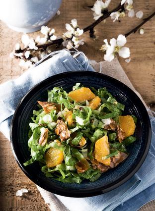 Μαρουλοσαλάτα με πορτοκάλι