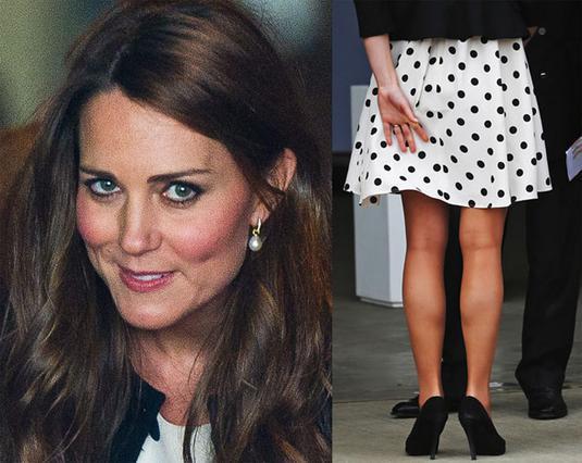 Στις 26 Απριλίου, όταν είχε φορέσει για πρώτη φορά το συγκεκριμένο φόρεμα, η Κέιτ μόλις που είχε προλάβει να γλιτώσει τα...  αποκαλυπτήρια .