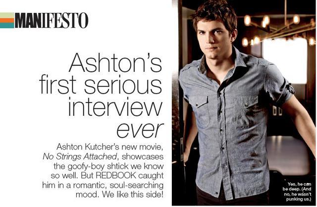 Αποκαλυπτικός ο Κούτσερ στη συνέντευξη του στο περιοδικό  Redbook  Φεβρουαρίου!