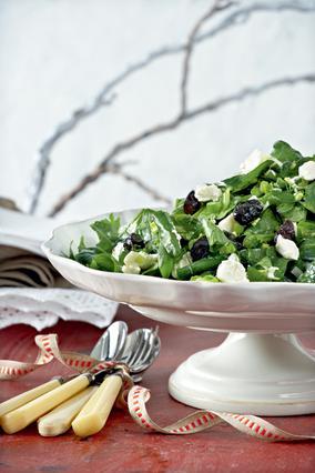 Σαλάτα με σπανάκι και γαλοτύρι