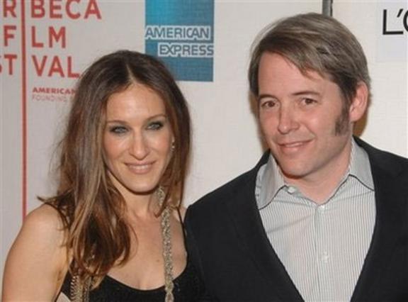 Η Σάρα Τζέσικα Πάρκερ με τον άντρα της στο φεστιβάλ κινημτογράφου της Τραϊμπέκα.