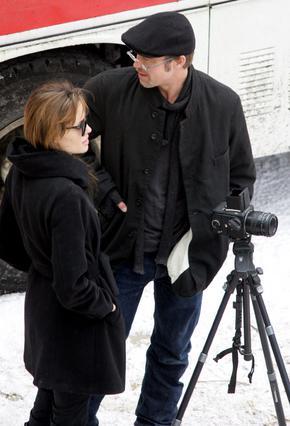 Ο Μπραντ Πιτ βρέθηκε στα γυρίσματα της ταινίας που πραγματοποιεί  η καλή του στη Βουδαπέστη.