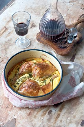 Κοτόπουλο στο φούρνο με τυράβγουλο