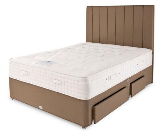 Σε αυτό το κρεβάτι (με 4.200 ελατήρια το στρώμα, μάλιστα) αλλά με ουρανό κοιμούνται η Κέιτ και ο Γουίλιαμ