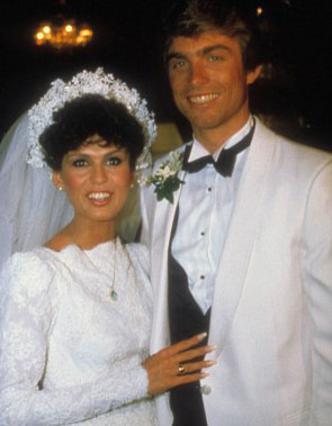 Η Μαρί Όσμοντ την ημέρα του πρώτου γάμους της με τον Στιβ Κρεγκ το 1982.