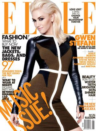 Η Γκουέν Στεφάνι, εντυπωσιακή όπως πάντα, στο εξώφυλλο του περιοδικού  Elle .