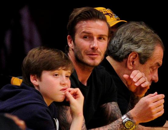 Απρόσεκτος ο Ντέιβιντ. Εδώ με τον Μπρούκλιν σε αγώνα μπάσκετ λίγο πριν το ατύχημα.