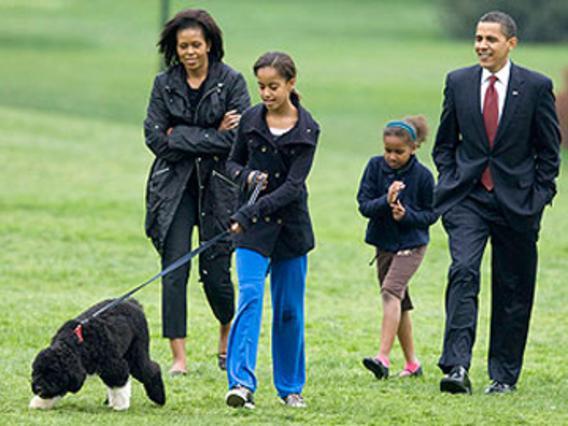 Ο Μπο στην πρώτη του βόλτα με την οικογένεια.