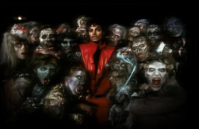 Στο φυρί το κοκκινόμαυρο τζάκετ που φορούσε στο κλιπ του  Thriller  ο Τζάκσον