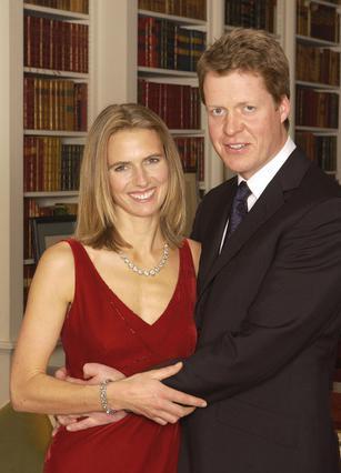 Ο κόμης Σπένσερ με τη δεύτερη  γυναίκα του Κάρολαϊν Σπένσερ.
