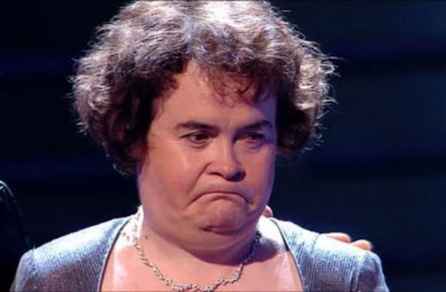 Η απογοήτευση είναι ζωγραφισμένη στο πρόσωπο της Σούζαν Μπόιλ.