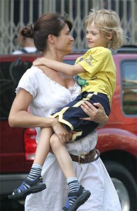 Με τον μονάκριβο γιο της Μίνγκους.