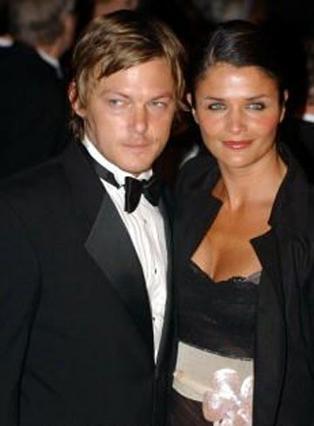 Με τον πρώην σύζυγό της, Νόρμαν Ρίντους.