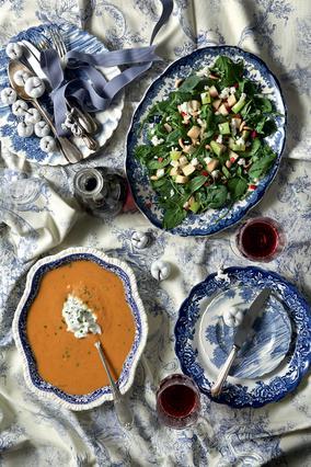 Σαλάτα με ρόκα, αχλάδι και σουρωτή μυζήθρα