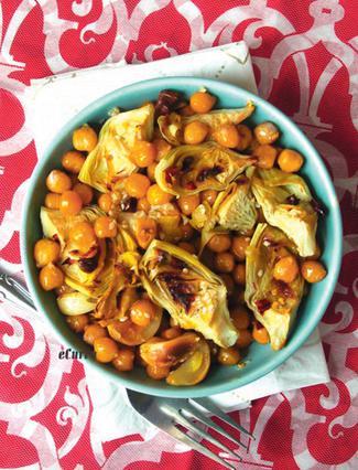 Ρεβίθια με αβγοτάραχο και αγκινάρες (Η συνταγή του Αντώνη)