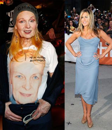Η εκκεντρική σχεδιάστρια μόδας υπογράφει το γαλάζιο φόρεμα που επέλεξε η Τζένιφερ Άνιστον για την εμφάνισή της στο Φεστιβάλ του Τορόντο και φούντωσε τις φήμες περί εγκυμοσύνης λόγω του ντραπαρίσματος