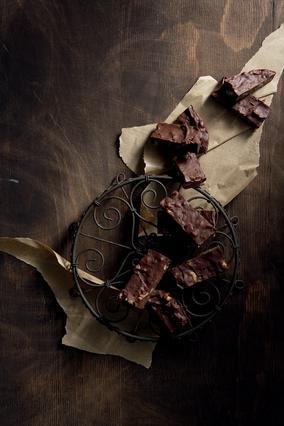 Φατζ (fudge) σοκολάτας με καρύδια