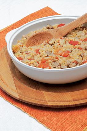 Ρύζι με δημητριακά και κοτόπουλο