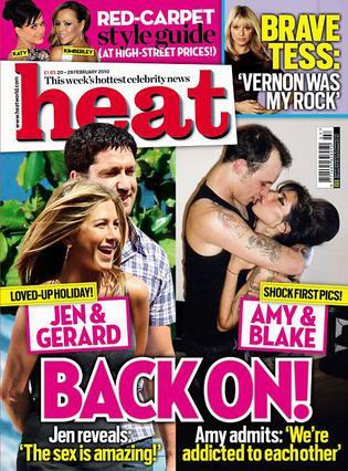 Στο εξώφυλλο του περιοδικού  Heat  ο τίτλος  Και πάλι μαζί  αναφέρεται τόσο στην Έιμι και  το Μπλέικ, όσο και στην Τζένιφερ Άνιστον με τον Τζέραρντ Μπάτλερ.