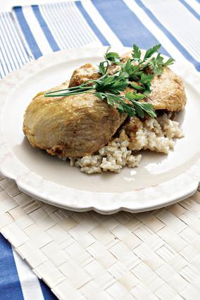 Κοτόπουλο με κρόκο κοζάνης