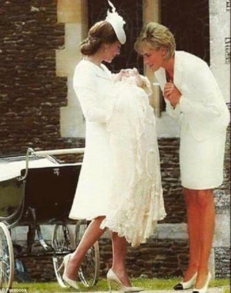 Ανατριχιαστικό! Η Νταϊάνα στη βάπτιση της εγγονής της, Σάρλοτ