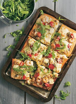 Πίτσα με γαρίδες και φινόκιο